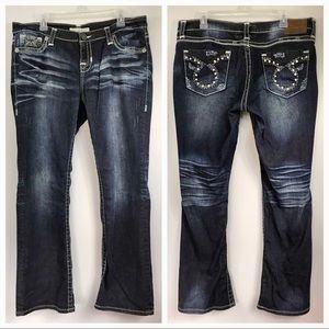 Big star Maddie Boot Jeans Rhinestone pocket 34 R